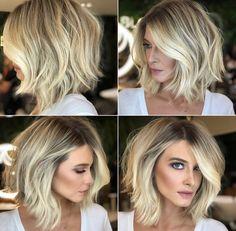 Medium Hair Styles, Curly Hair Styles, Hair Medium, Frizzy Hair Tips, Hair Color And Cut, Great Hair, Hair Today, Balayage Hair, Hair Hacks