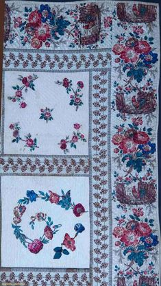 Augusta Auctions: Detail- Broderie Perse applique quilt c1830