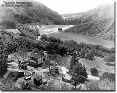 Historic photo of the original Thurston homestead in Aliso Creek Canyon
