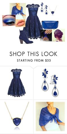 """""""Ravenclaw yule ball"""" by littleangel66 ❤ liked on Polyvore featuring Effy Jewelry and Smythson"""