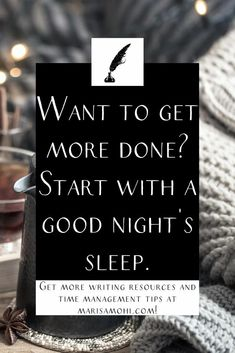 Want to get more done in your day? You may need to get more sleep. Here's 5 things to help you get a good night's sleep. Self Development, Personal Development, 5 Things, Things To Come, Time Management Strategies, Night Time Routine, Mindfulness Activities, How To Stop Procrastinating, Morning Person