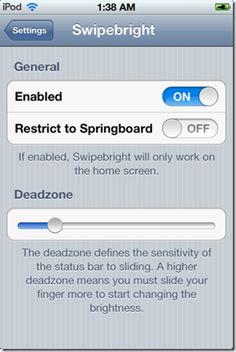 Swipebright– An Easiest Way to Change The Brightness Level On Your iPhone, iPod Touch And iPad [Cydia App]
