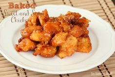 Baked Sweet and Sour Chicken from sixsistersstuff.com. Tastes like it came straight from a Chinese restaurant! #recipes #chinese #chicken