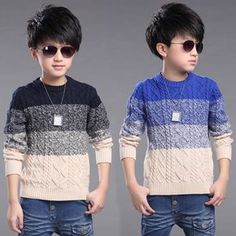 Стиль и классика: косы и жгуты для  мальчиков. 20+ моделей свитеров.