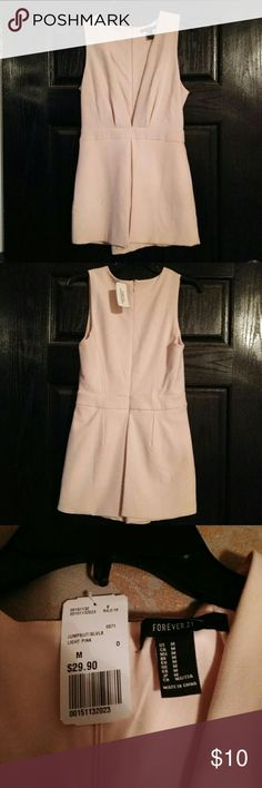 Jumpsuit Medium Light pink short jumpsuit. Never worn tag still on. Forever 21 Other