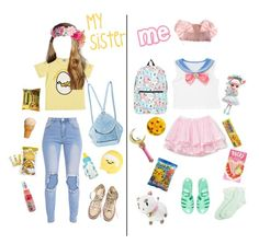 """Me and my sister at Tokyo ^ω^"" by dazzling-pink-elaina ❤ liked on Polyvore featuring Converse, MANU Atelier, Popatu, Usagi, Nintendo, JouJou, Bandai, JuJu and Forever 21"