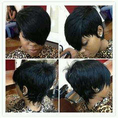 Short hair cut- the back is beautiful