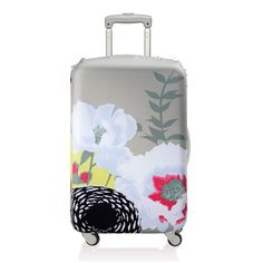 LOQI Dahlia Luggage Cover // This elegant floral cover fits most medium uprights to make bags stand out from the pack. Water- and fade-resistant, it's the perfect solution to weather-protect luggage. Mk Handbags, Fashion Handbags, Fashion Bags, Leather Handbags, Puppy Backpack, Animal Bag, Luggage Cover, Luggage Sets, Thanksgiving Gifts