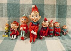 Vintage Christmas Elves