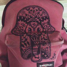 By danacarniti. #myeastpak #diy #custom #bag