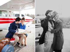 adorable aviation styled shoot