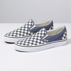 624d221584 Vans Checkerboard Slip-On grisaille true white Grey Slip On Vans