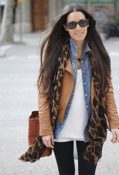 14 Ways To Wear Brown Leather Jacket find more women fashion ideas on www.misspool.com