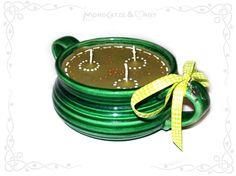 Tassenkerze / Cup candle: IM FROSCHTEICH  wanna buy something like this? visit my shop: http://de.dawanda.com/shop/Mondcatze ...or contact me : Mondcatze@fantasymail.de