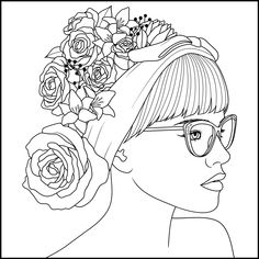 Para colorear Adult Coloring Book Pages, Cute Coloring Pages, Printable Coloring Pages, Coloring Books, People Coloring Pages, Copic Drawings, Easy Drawings, Free Adult Coloring, Princess Drawings