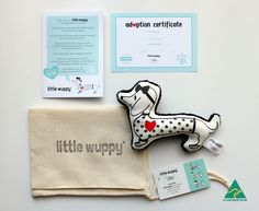 The little wuppy® is a sausage dog worry puppy designed as an aid to help ease children's worries and to comfort them.  Children can talk to the little wuppy®, hold it in their hand, pop it in their pocket, bag or pencil case, place it under their pillow, keep it in a special place in their room, or use it in any way their imagination takes them.  Little Boo-Teek - Little Wuppy Worry Puppy - Spotted   Kids Anxiety Aids   Children's Gifts