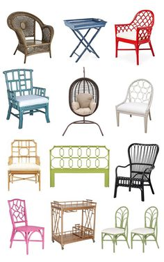 decorative rattan furniture roundup @centsationalgrl
