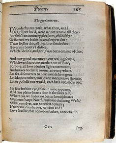 """""""Whatever dies, was not mixed equally.""""  The Good Morrow, John Donne"""