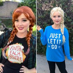 Frozen Cosplay, Elsa Cosplay, Frozen Costume, Disney Cosplay, Elsa Halloween Costume, Disney Halloween Parties, Halloween Ideas, Disney Princess Shirts, Disney Princess Costumes