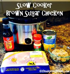 Slow Cooker Brown Sugar Chicken recipe taste amazing and is easy to prepare with a handful of 5 ingredients! Great family meal full of flavor.