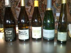 A selection of Vouvray wines from Chateau Gaudrelle.