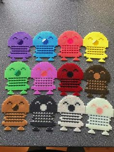 Hoptimister Hama Beads Patterns, Beading Patterns, Bead Crafts, Diy And Crafts, Hama Mini, Tapestry Crochet Patterns, Diy Perler Beads, Melting Beads, Beaded Cross Stitch