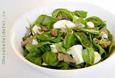 RETETE DE SALATE | Stevia, Mozzarella, Spinach, Salads, Dishes, Vegetables, Cooking, Health, Desserts