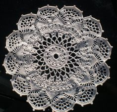 """Well, that was easy! The finished doily is 10½"""" in diameter. UPDATE 25FEB2012: The pattern link no longer works,so here is the wri..."""