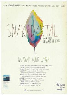 snakadaktal tour poster