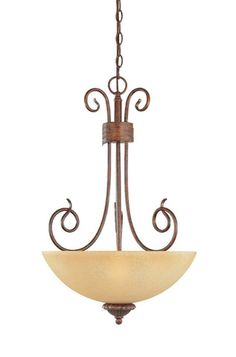 Designers Fountain Lighting 99331 AUB Belaire Collection Three Light Hanging Pendant Chandelier in Aged Umber Bronze Finish | Quality Discount Lighting