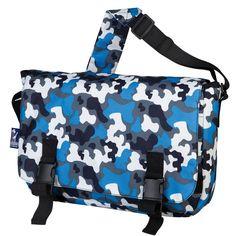 Blue Camo Jumpstart Messenger Bag