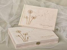 Wood Wedding Guest Book Guestbook Modern Custom Gift Keepsake Journal Rustic
