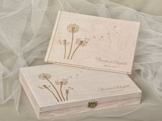 Set  Laser Cut Guestbook & Engraved Box Love is by DecorisWedding, $90.00