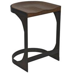 Andie Industrial Loft Modern Rustic Wood Metal Counter Stool   Kathy Kuo Home