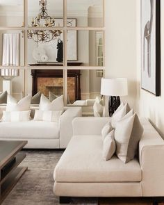 41 Elegant Living Room Design – Home Decor - Modern Bold Living Room, Living Room Mirrors, Elegant Living Room, Elegant Home Decor, Luxury Home Decor, Elegant Homes, Luxury Homes, Living Room Decor, Living Rooms