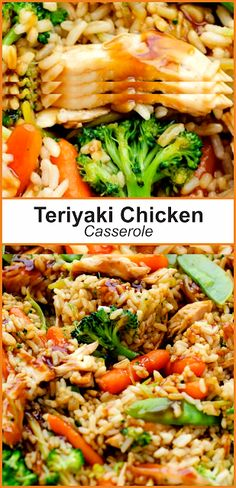 Teriyaki Chicken Casserole | Think food #terriyakichickencasserole College Meals, College Food, Casserole Dishes, Casserole Recipes, Teriyaki Chicken Casserole, Healthy Dinner Recipes, Yummy Recipes, Think Food, Meal Planning