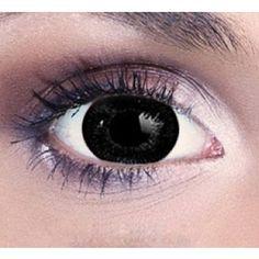 BLACK Coloured contact lenses Big Eye Vivi - 1 Year (Pair) #bestcontactlenses #awesomecontactlenses #BLACKcoloured