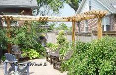 Rustic Pergola, add a vine .....screen from neighbors