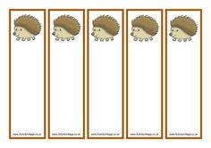 Hedgehog bookmarks