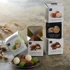 View details for Catànies Chocolate Covered Almonds Gift Collection by Cudié Chocolate Pack, Artisan Chocolate, Chocolate Treats, Chocolate Coffee, Spanish Chocolate, Famous Chocolate, Chocolate Covered Almonds, Chocolate Dipped, Bonbon