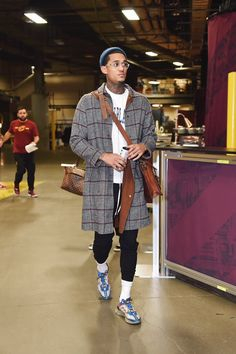 Jordan Clarkson in the Undercover x Nike React Element 87 is part of Mens street style - Nba Fashion, Dope Fashion, Mens Fashion, Fashion Outfits, Street Fashion, Fashion Styles, Fashion Black, Trendy Outfits, Fashion Tips