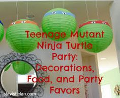 ninja turtles birthday decorations - or with green balloons