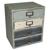 I've always loved old distressed furniture! Found it at Wayfair - Cheungs 4 Drawer Organizer