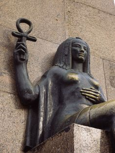 Woman's Statue Holding an Ankh, Alexandria - Egypt....An Ankh symbolizes living...and I intend to treasure my time living it up in Egypt! #treasuredtravel