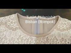 """(Tutorial) Tips praktis dan cepat menjahit """"Bisban (Rompok)"""" Sewing Hacks, Sewing Tutorials, Sewing Patterns, Pola Lengan, Sewing Blouses, Brokat, Bias Tape, Pants Pattern, Fashion Sewing"""