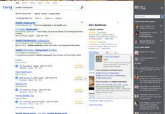 Bing social search functionalities. Example of social search.