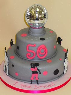#50th #Disco #Birthday #Cake!