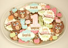 Icings by Ang: Childrens Birthday Cookies - owls