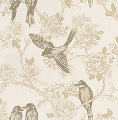 Songbird Chartreuse wallpaper by Prestigious