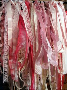 If I ever get another craft room then the walls will be filled with ribbons just like this.